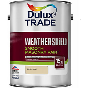 Dulux Paint Smooth Masonry Paint Sandstone 5L