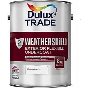 Dulux Paint Weathershield External Undercoat Brilliant White 5L