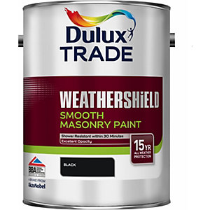 Dulux Smooth Masonry Paint Black 5L