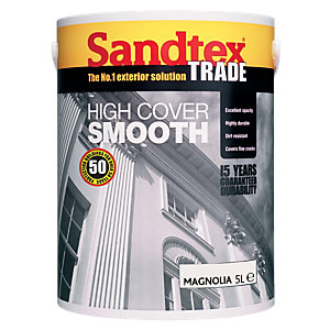 Sandtex Trade High Cover Smooth Magnolia 5L