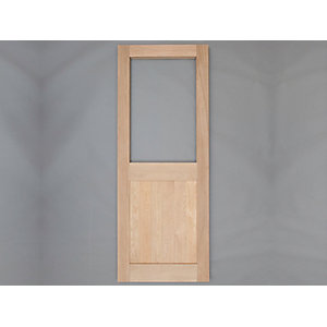 Solid Oak Custom Size 2 x G External Door