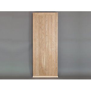 Solid Oak Custom Size Framed Ledged External Door