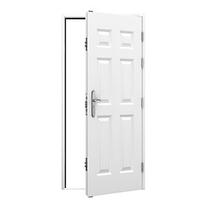 6 Panel Steel Door 845 x 2020mm Rh Outward