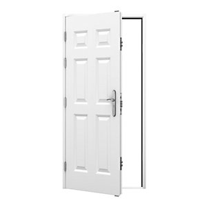6 Panel Steel Door 895 x 2020mm Lh Outward