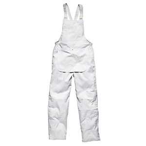 4Trade Painters Bib & Brace White Size L