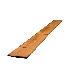 Travis Perkins Feather Edge Board Pressure Treated Brown 22mm x 100mm x 1.8m