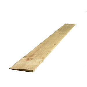 Travis Perkins Feather Edge Board Pressure Treated Green 22mm x 125mm x 1.8m