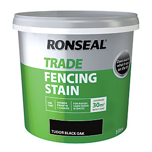 Ronseal Trade Fencing Stain Tudor Black 5L