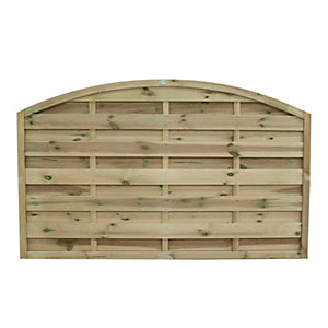 Europa Domed Pressure Treated Fence Panel 1800mm (W) x 1100mm (H)