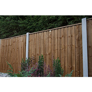Forest Garden Contractor Pressure Treated Fence Panel Brown 1830mm x 1520mm - 6 ft x 5 ft
