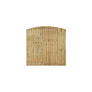 Forest Garden Contractor Pressure Treated Fence Panel Domed Top 1828mm (W) x 1828mm (H)