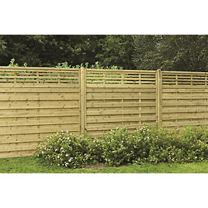 Forest Garden Europa Kyoto Fence Panel Natural 1800 mm (W) x 1800 mm (H) ECP18