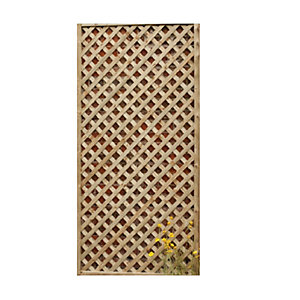 Forest Garden Rosemore Lattice Fence Panel 1800mm x 600mm