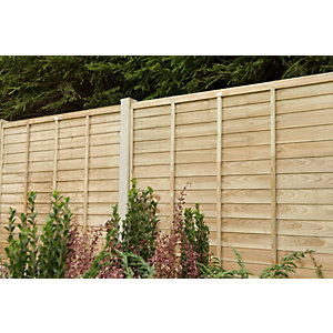 Forest Garden Super Lap Pressure Treated Fence Panel 1830mm (W) x 1830mm (H) TPSUPER66PTR