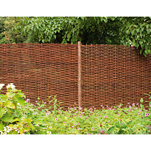 Forest Garden Woven Willow Fence Screen 1800mm x 1800mm - 6 ft x 6 ft