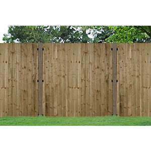 Heavy Duty Pressure Treated Feather Edge Fence Panel 1800mm x 120mm - 6 ft x 4 ft