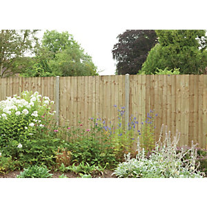 Heavy Duty Pressure Treated Feather Edge Fence Panel 1830mm x 1500mm - 6 ft x 5 ft