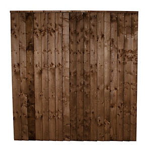 Forest Garden Contractor Pressure Treated Fence Panel Brown 1830mm x 1200mm