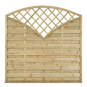 Forest Garden Finedon Pressure Treated Fence Panel 1800mm x 1800mm TPFINS18