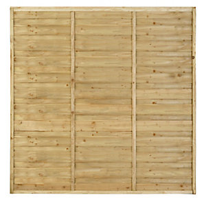 Larchlap Solway Pressure Treated Fence Panel 1828mm x 1828mm SOL66