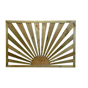 Richard Burbidge Treated Sunburst Decking Panel 36mm x 760mm x 1130mm