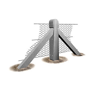 Supreme Concrete Chainlink Two Way Post 6ft 9in CHK206T