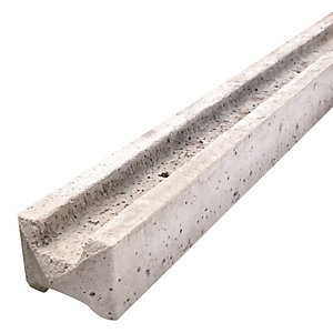 Supreme Concrete Intermediate Slotted Fence Post 109mm x 94mm