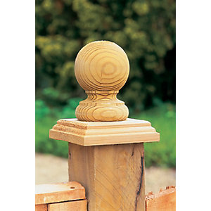 Ball Top Fence Post Acorn 85mm x 85mm x 106mm Pack of 2
