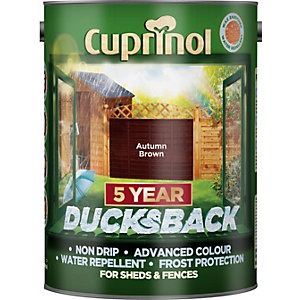 Cuprinol Ducksback Quick Drying Fencing Treatment Autumn Brown 5L