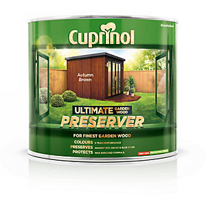 Cuprinol Ultimate Garden Wood Preserver Autumn Brown 1L