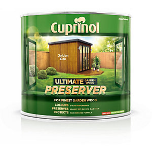 Cuprinol Ultimate Garden Wood Preserver Golden Oak 1L