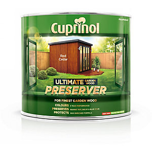 Cuprinol Ultimate Garden Wood Preserver Red Cedar 1L