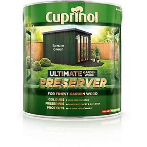 Cuprinol Ultimate Garden Wood Preserver Spruce Green 4L