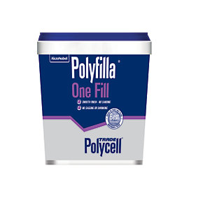 Polycell Polyfilla One Fill Lightweight Filler 1L - Box of 4