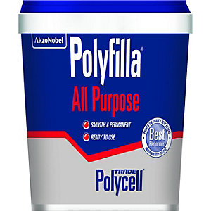 Polycell Polyfilla Trade All Purpose Ready Mixed Filler 1Kg - Box of 6