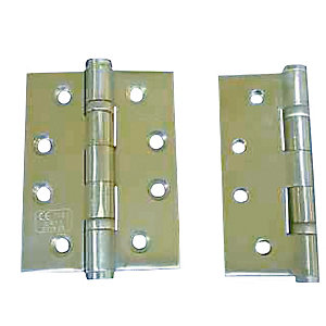 4Trade Fire Door Ball Bearing Hinges Grade 13 Stainless Steel 100x75mm 3 Pack