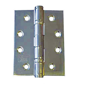 4Trade Fire Door Ball Bearing Hinges Grade 7 Polished Stainless Steel 2 x 50 x 75mm