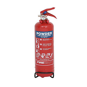 Firemax 1kg Abc Powder Extinguisher C/W Wire Bracket (FMP1)
