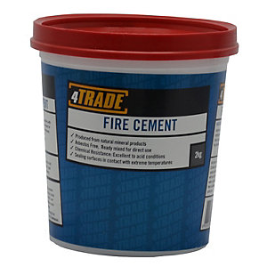 4Trade Ready Mixed Fire Cement Neutral Colour 2Kg