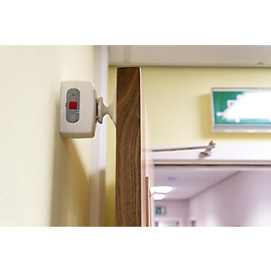 Agrippa Acoustic Battery Operated Door Holder White AGDHW1