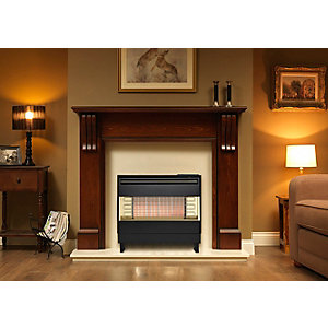 Robinson Willey Firegem Visa Highline Black Gas Fire A85035
