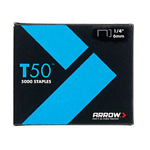 Arrow T5014S T50™ Staples 6mm (1/4in) Box 1250