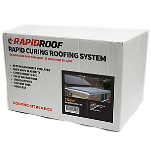 Rapidroof Cold Liquid Appliedlied Seamless Waterproofing System 5 M2 Roof Kit