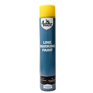 4TRADE Line Marking Paint Yellow 750ml U4T/141/Q108/102/K - Case of 6