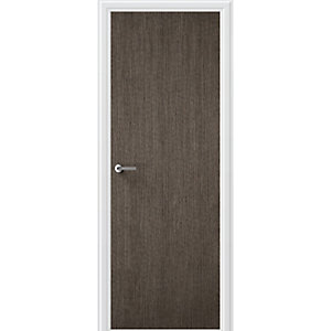 Flush Charcoal Grey Vertical Internal Door Height 1981mm
