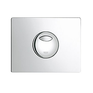 Grohe 38862000 Dual Skate Wallplate Chrome Plated (Cistern Only)