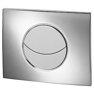 Wirquin 50718122 Pro Moon Chrome Dual Flush Push Plate (Cistern Only)