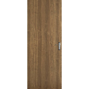 Flush Walnut Veneer Hollow Core Internal Door Height 1981mm
