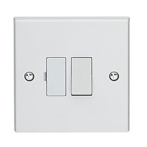 Volex White Moulded 13A Double Pole Switched Fused Connection Unit