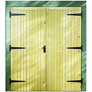 External Garage Pine Door Pair 2133mm x 1981mm x 44mm